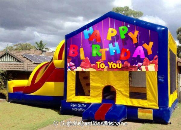 Happy Birthday Large Banner Castle