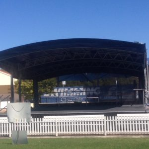 8M x 6M Stage Black Canopy