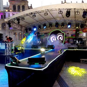 8M x 6M Stage, catwalk and DJ table