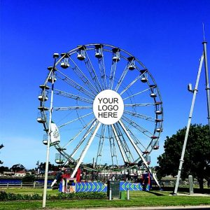 Ferris Wheel With Advertising For Your Business