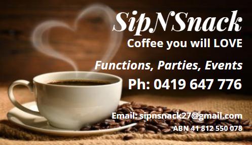 Sip N Snack Business card